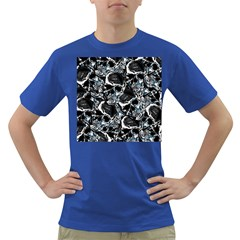 Skulls Pattern Dark T Shirt