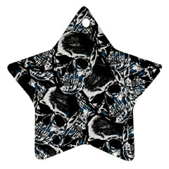 Skulls Pattern Star Ornament (two Sides)