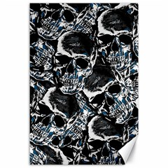 Skulls Pattern Canvas 24  X 36