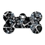 Skulls pattern Dog Tag Bone (One Side) Front
