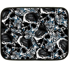 Skulls Pattern Fleece Blanket (mini)