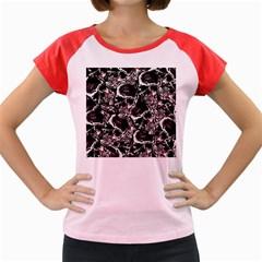 Skulls pattern Women s Cap Sleeve T-Shirt
