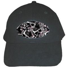 Skulls Pattern Black Cap
