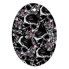 Skulls Pattern Ornament (oval)