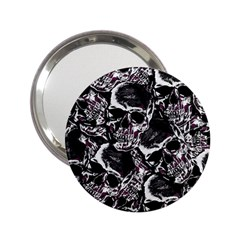 Skulls Pattern 2 25  Handbag Mirrors