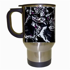 Skulls Pattern Travel Mugs (white)