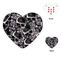 Skulls Pattern Playing Cards (heart)