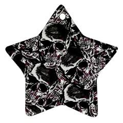 Skulls Pattern Star Ornament (two Sides)