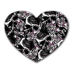 Skulls Pattern Heart Mousepads