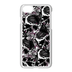 Skulls Pattern Apple Iphone 7 Seamless Case (white)
