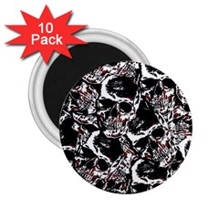Skull Pattern 2 25  Magnets (10 Pack)