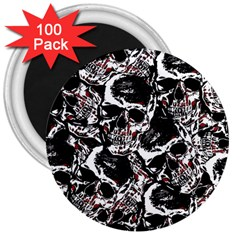 Skull Pattern 3  Magnets (100 Pack)