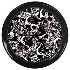 Skull Pattern Wall Clocks (black)