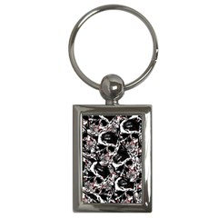 Skull Pattern Key Chains (rectangle)