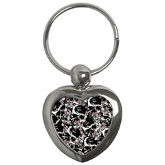 Skull Pattern Key Chains (heart)