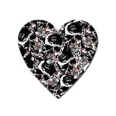 Skull Pattern Heart Magnet