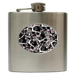 Skull Pattern Hip Flask (6 Oz)