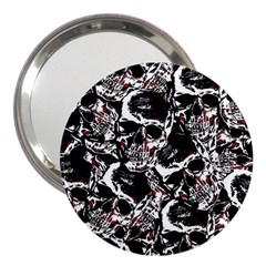 Skull Pattern 3  Handbag Mirrors