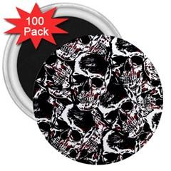 Skull Pattern 3  Magnets (100 Pack)