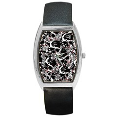 Skull Pattern Barrel Style Metal Watch