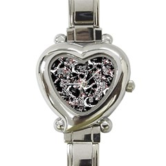 Skull Pattern Heart Italian Charm Watch