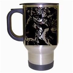 Skull Pattern Travel Mug (silver Gray)