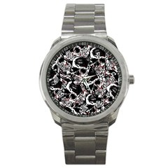 Skull Pattern Sport Metal Watch