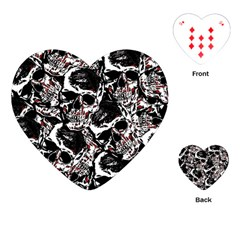 Skull Pattern Playing Cards (heart)
