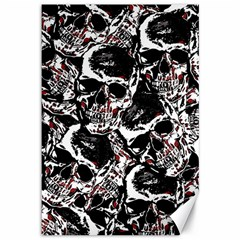 Skull Pattern Canvas 12  X 18