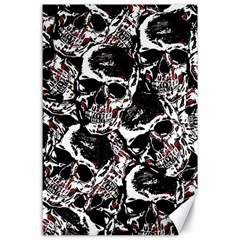 Skull Pattern Canvas 24  X 36