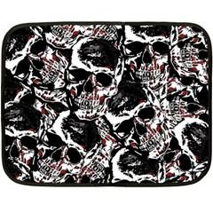 Skull Pattern Double Sided Fleece Blanket (mini)