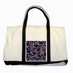 Skull Pattern Two Tone Tote Bag