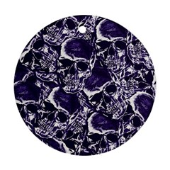 Skull Pattern Round Ornament (two Sides)