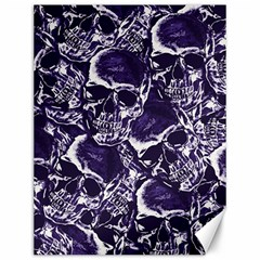 Skull Pattern Canvas 12  X 16