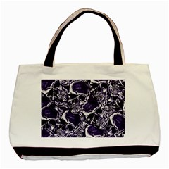 Skull Pattern Basic Tote Bag (two Sides)