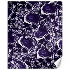 Skull Pattern Canvas 11  X 14
