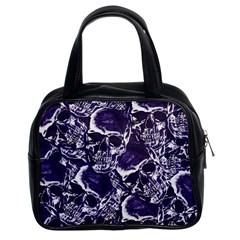 Skull Pattern Classic Handbags (2 Sides)