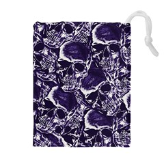 Skull pattern Drawstring Pouches (Extra Large)