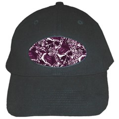 Skull Pattern Black Cap