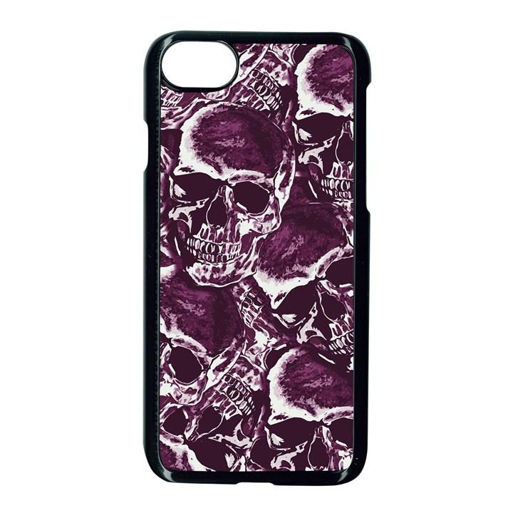 Skull pattern Apple iPhone 7 Seamless Case (Black)