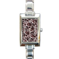 Skull Pattern Rectangle Italian Charm Watch