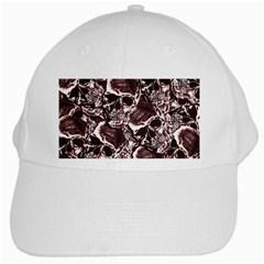 Skull Pattern White Cap