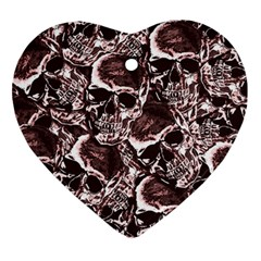 Skull Pattern Ornament (heart)