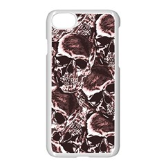 Skull Pattern Apple Iphone 7 Seamless Case (white)