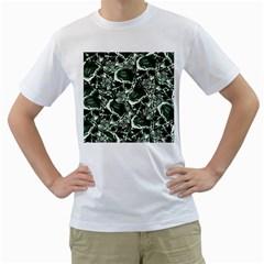Skull pattern Men s T-Shirt (White)