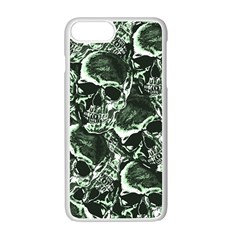 Skull Pattern Apple Iphone 7 Plus White Seamless Case