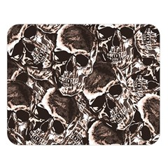 Skull pattern Double Sided Flano Blanket (Large)