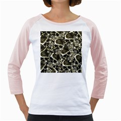 Skull Pattern Girly Raglans