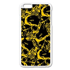 Skull Pattern Apple Iphone 6 Plus/6s Plus Enamel White Case