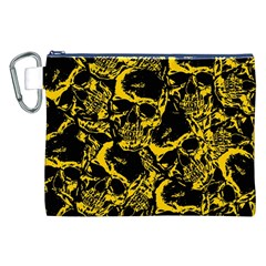 Skull pattern Canvas Cosmetic Bag (XXL)